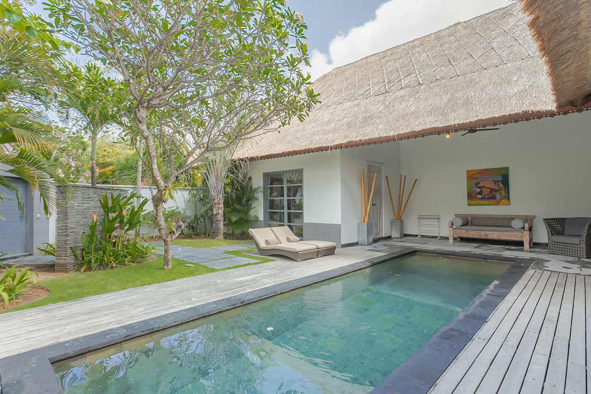 private pool and lounge of two bedroom villa peaceful place